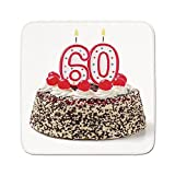 Cozy Seat Protector Pads Cushion Area Rug,60th Birthday Decorations,Happy Party Cake with Candles