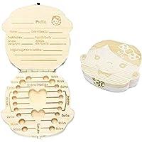 Caja para dientes de leche, de madera, original