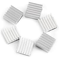 12pcs Kit de enfriamiento del disipador de calor de aluminio pequeño con pegamento adhesivo en la parte posterior 14mmx14mmx6mm