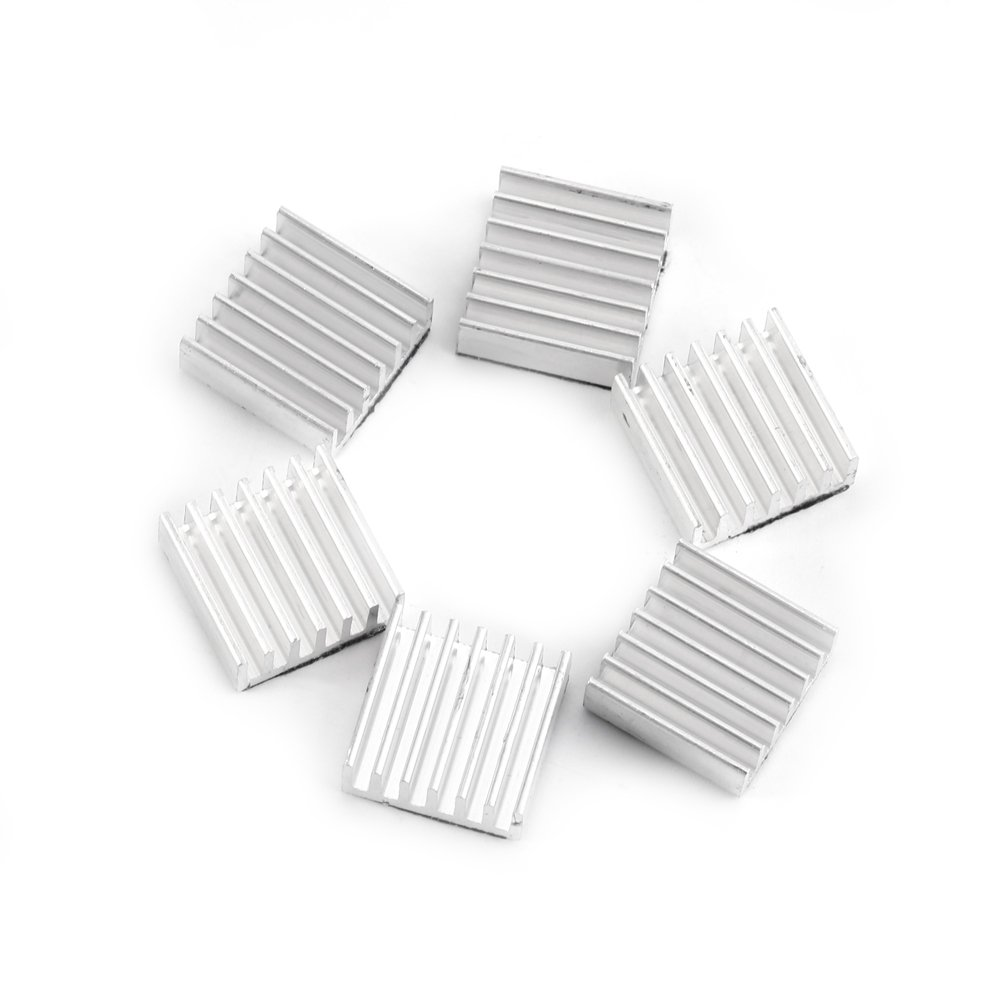 Kit de Refroidissement en Aluminium Petit Radiateur 12 PCs Avec La Colle Adhésive Sur Le Dos 14 × 14 × 6mm Zerone