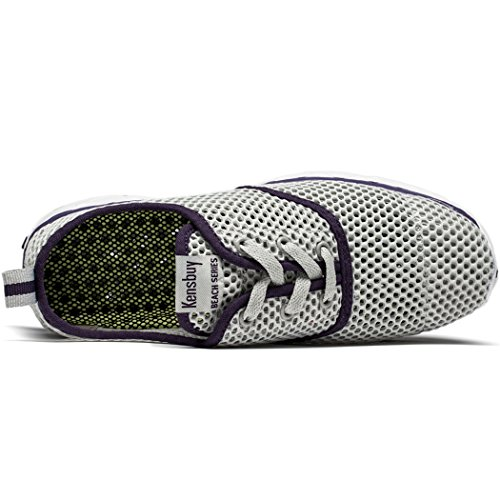 Women's KENSBUY Mesh Couple Breathable Water purple amp; Shoes Athletic Grey Shoes Unisex Casual Men waHap