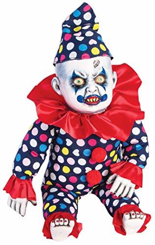 Forum Novelties Prop-Evil Clown Doll, Blue/Red -