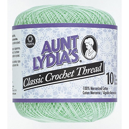Aunt Lydia'S Classic Crochet Thread Size 10-Mint Green by Aunt Lydia's