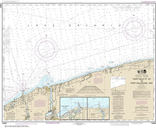 NOAA Chart 14806 Thirtymile Point, N.Y., to Port Dalhousie, Ont.: 29.01