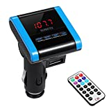 AVANTEK In-Car Universal Wireless FM Transmitter with 3.5 mm Audio Plug, with USB Car Charger and Remote Control, Supports MP3 and WMA Music Files on SD cards, USB and many other Audio devices