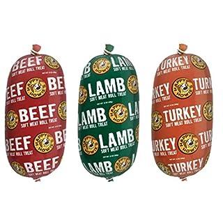 HAPPY HOWIE Natural Gourmet Meat Rolls Bundle Packs (Beef-Turkey-Lamb) (16oz - 2pk)