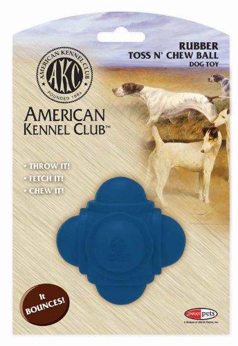 AKC Rubber Ball Dog Toy, Blue, My Pet Supplies