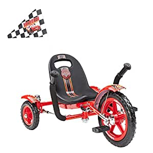 Mobo Tot Disney Pixar Cars- Lightning McQueen: A Toddler's Ergonomic Three Wheeled Cruiser Ride On, Red