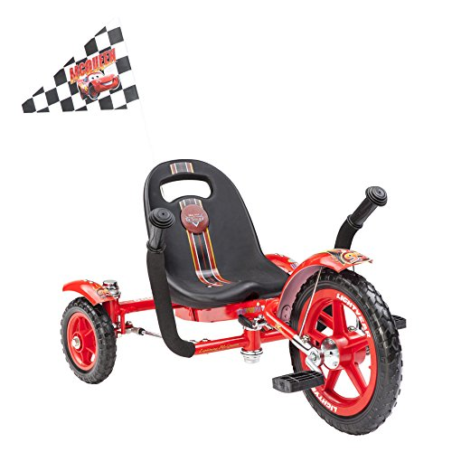 Mobo Tot Disney Pixar Cars- Lightning McQueen: A Toddler's Ergonomic Three Wheeled Cruiser Ride On, Red (Ride Cruiser)