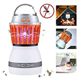 YouVogue Bug Zapper Mosquito Killer Camping Lamp Multifunction Night LED light With USB Charging 2 in 1 IP67 Waterproof Portable UV Lamp Perfect for Your Baby & Family Indoor & Outdoor Camping Hiking