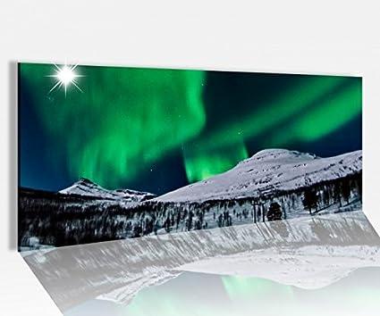 Acrylglasbilder Wandbilder aus Plexiglas® 120x60 Polarlicht Landschaft