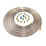 "25 Ft. of 1/4"" Copper Nickel Tubing with Fittings"