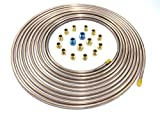 25 Ft. of 1/4'' Copper Nickel Tubing with Fittings