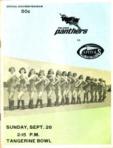 - 1969 Continental Football League Program: Orlando Panthers vs. Indianapolis Capitols, September 28, 1969