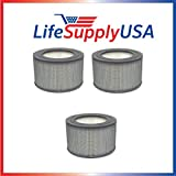 3 Pack Honeywell 24000 / 24500 Air Cleaner Replacement Filter - Fits 13350 13500 13501 13502 13503 13520 13523 13525 13526 13528 13350 50250 50251 52500 63500 83162 83259 83287 83332 By Vacuum Savings