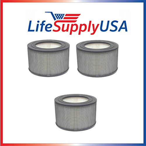 LifeSupplyUSA 3 Pack Replacement Filter for 21500/21600 Honeywell Air Purifier Replacement Filter