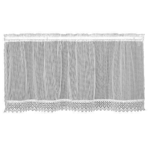 Heritage Lace Chelsea 48-Inch Wide by 36-Inch Drop Tier with Trim, Flax