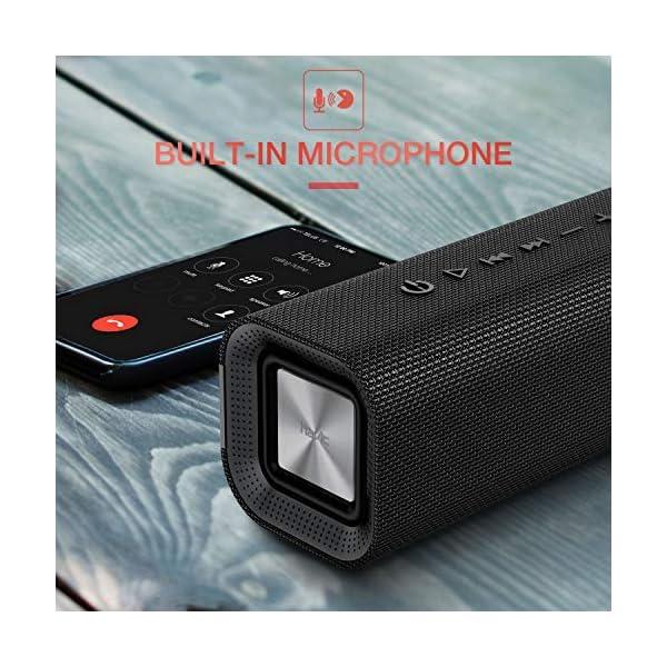 HAVIT V4.2 Enceinte Bluetooth Portable Puissante, Haut Parleur Bluetooth pour Bluetooth, Entrée Filaire, Carte TF -Noir 5