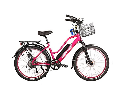 X-Treme Catalina 48 Volt High End Women's Frame Beach Cruiser | Pink For Sale