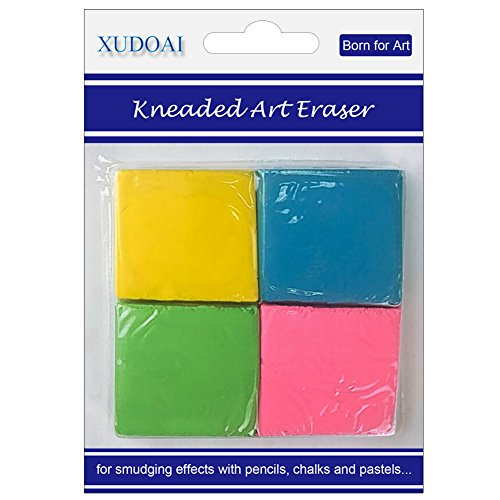 Painting Art Design Kneaded Eraser 4 Pieces, Yanyi Soft and Durable Sketch Putty Rubber, Grooming Lines, Shadows.