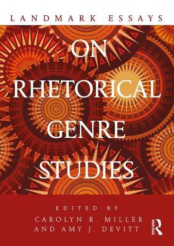 Book Landmark Essays on Rhetorical Genre Studies (Landmark Essays Series) D.O.C