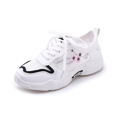 f0df2b4a33b99 Femme Chaussure Multisport Outdoor Sneaker de Basket Mode a Lacet Resoirant  Confort Noir 35
