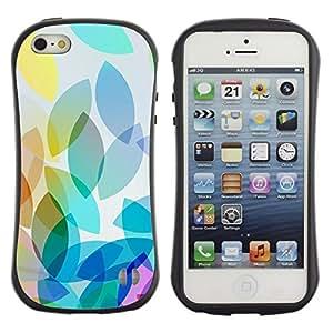 "Hypernova Slim Fit Dual Barniz Protector Caso Case Funda Para Apple iPhone SE / iPhone 5 / iPhone 5S [Hoja Seasons Colores Naranja Azul Amarillo""]"