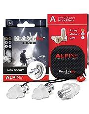Alpine MusicSafe Pro Oordoppen voor muzikanten - Verbeter uw muziekervaring zonder risico op gehoorbeschadiging - Drie verwisselbare filterniveaus - Hypoallergeen en herbruikbaar - Transparant