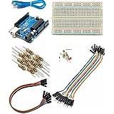 Robocraze Basic Starter Kit Arduino Uno Breadboard LED Jumper Wire for Arduino | Arduino kit for Beginners