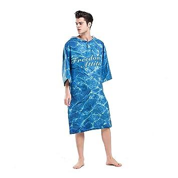 Bata de cambio de playa para adultos, Bata de microfibra que cambia el traje de la ...