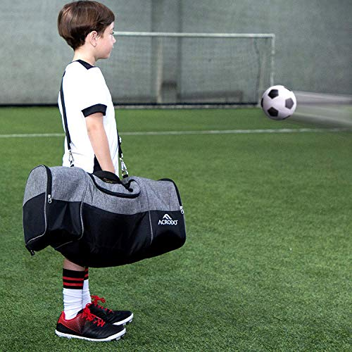 Soccer Backpack with Ball Holder, Cleat Compartment, Lunch Cooler - Sports Duffel Bag Gym Gear Tote for Girls, Boys, Men, Women