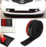 291 Inches Car Front Bumper Lip Splitter Protector Body Spoiler Valance Chin Rubber by ShopIdea