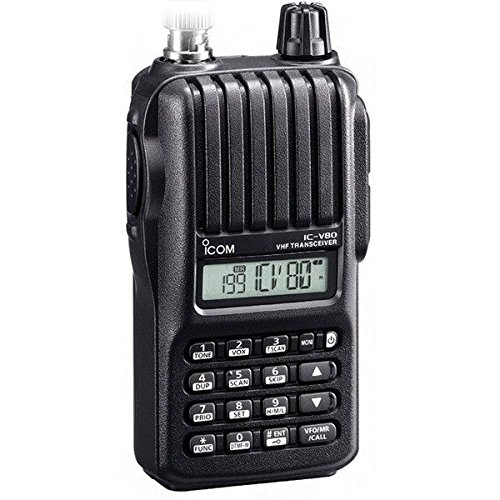 Bundle - 3 Items - Includes Icom V-80-Sport Handheld radio, 2m, 5.5W (featuring AA alkaline power) with the New Radiowavz Antenna Tape (2m - 30m) and HAM Guides Quick Reference Card