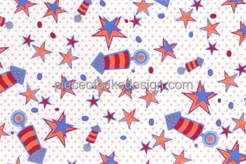 Fireworks Background ~ Edible Image Cake Topper