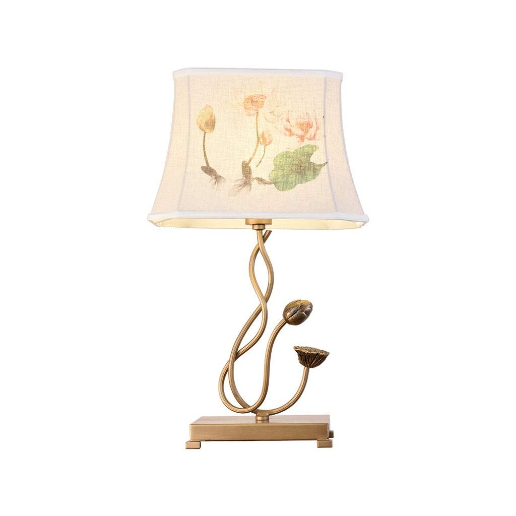 Table Lamp Bedroom Bedside Lamp Living Room Retro Code Floor Lamp Study Hotel Project Decoration Lotus Table Lamp