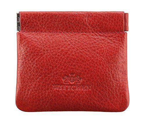 WITTCHEN Portafoglio, Dimensione: 9x8cm, Rosso, Materiale: Pelle di grano, Orizzontale, Collezione: Italy - 21-1-029-3