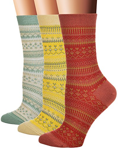 Flora&Fred Women's Cotton Crew Socks, Sock Size 9-11 / Shoe Size 5-9, Candy, 3 Pack ()