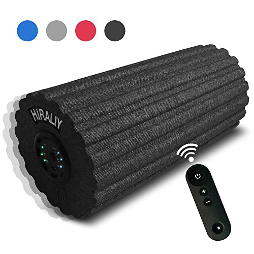 HIRALIY Vibrating Foam Massage Roller 3 Speed High Intensity Rechargeable 12inch Exercise Muscle Roller with Remote Controller for Muscle Recovery,Pain Relief,Physical Therapy and Myofascial Release Review