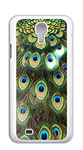 Plastic Phone Case Back Cover case for samsung galaxy s4 for men - Purple peacock feather