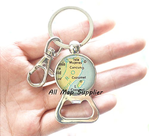 Cheap Charming Bottle Opener Keychain,Cancun/Cozumel map Bottle Opener, Cancun map Bottle Opener Keychain, Cozumel map Bottle Opener Keychain, Cancun Bottle Opener Keychain,A0119