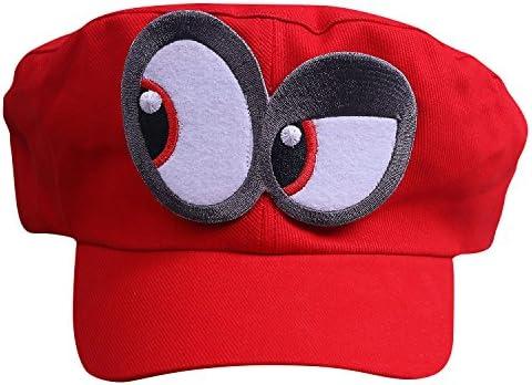 Perfetto per Carnevale e Cosplay 3x Super Mario Cappello Odyssey Costume per adulti e bambini
