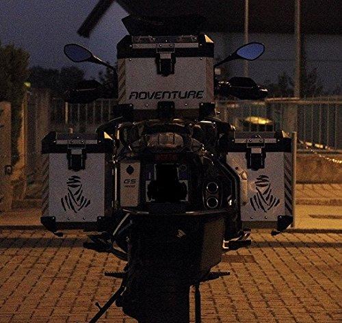 T/ítulo  Pegatinas reflectantes con la inscripci/ón /«GS/» para motos para manillar y guardabarros R1200 R1250 en color negro
