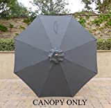 9ft Umbrella Replacement Canopy 8 Ribs in Charcoal Grey (Canopy Only) Review