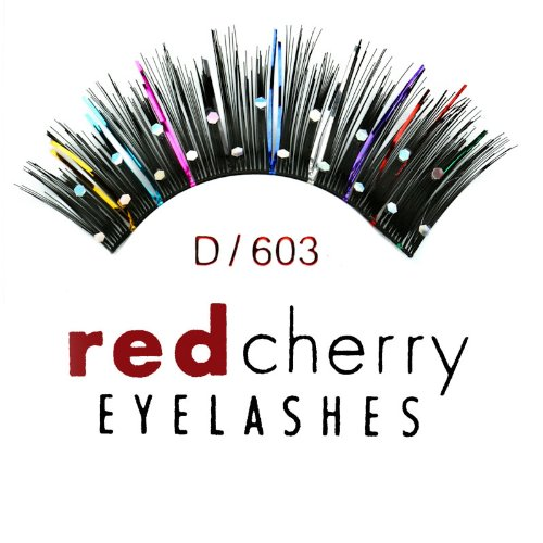 Glitter Eyelashes (with Color Tinsel - D603) ()