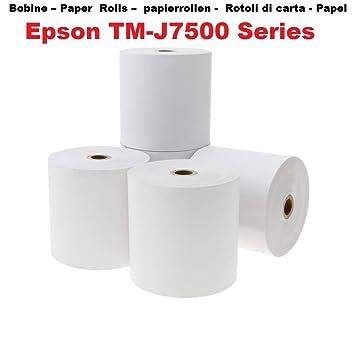 5 blanco papel offset de carretes de 76 x 70 x 12 mm no térmico ...