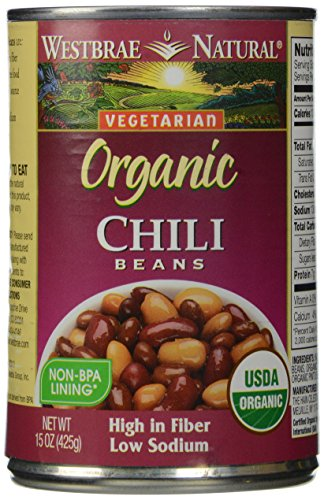 Westbrae Natural, Vegetarian Organic, Chili Beans, 15 oz (Best Canned Vegetarian Chili)