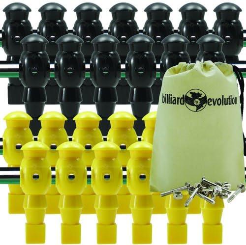 26 Amarillo y Negro Robot futbolín Hombres con libre tornillos y ...