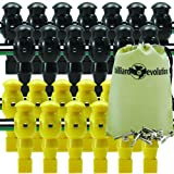 26 Yellow and Black Robotic Foosball Men with Free Screws and Nuts and Billiard Evolution Drawstring Bag