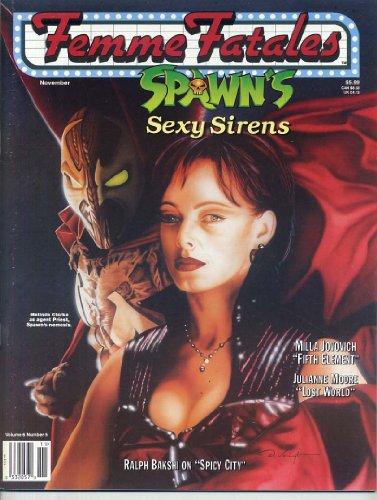 Femme Fatales Magazine SPAWN Sexy Sirens MELINDA CLARKE Topless Ingrid Pitt JULIANNE MOORE Milla Jovovich FEMME FATALES November 1997 C (Femme Fatales Magazine)