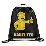 MRNG Fallout 4 Logo Drawstring Backpack Bag